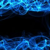 Frame of a blue smoke on black Stock Photography