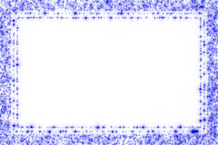 Frame blue stars Royalty Free Stock Photos