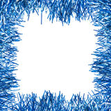 Frame of blue tinsel Royalty Free Stock Photo