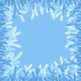 frame of blue and white branches royalty free illustration