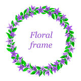 Frame with bluebells. Royalty Free Stock Photography