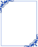 Frame border with blue ornaments. Blue frame border with ornaments Royalty Free Stock Image