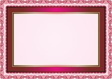 Frame - Border with Bright Color Style Design Stock Image