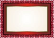 Frame - Border with Bright Color Style Design Stock Images