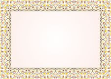 Frame - Border certificate with vintage ornament. Suitable for Certificate of Achievement, Certificate of education, awards, Wedding, menu, winner and other Royalty Free Stock Photography