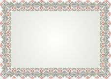 Frame - Border certificate with vintage ornament. Suitable for Certificate of Achievement, Certificate of education, awards, Wedding, menu, winner and other Stock Image
