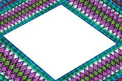 Frame border of fabric texture. On a white background stock photography
