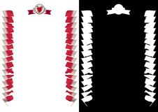 Frame and Border with flag and coat of arms Bahrain. 3d illustration.  Stock Photography