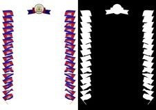 Frame and Border with flag and coat of arms Cambodia. 3d illustration.  Royalty Free Stock Image