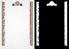Frame and Border with flag and coat of arms Italy. 3d illustration Stock Image