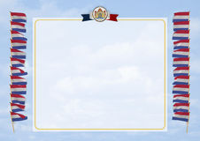 Frame and Border with flag and coat of arms Netherlands. 3d illustration Royalty Free Stock Photos