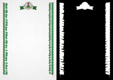 Frame and Border with flag and coat of arms Nigeria. 3d illustration Stock Photo