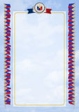 Frame and Border with flag and coat of arms Philippines. 3d illustration Stock Photography