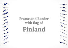 Frame and border with flag of Finland. 3d illustration.  Royalty Free Stock Image