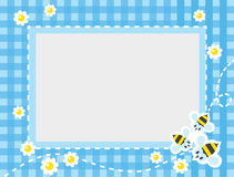 Frame or border with funny bees Stock Image