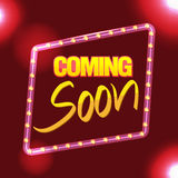 Frame Border Glow Light Coming Soon Vector Stock Photography