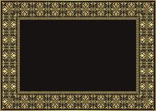 Frame - Border with Gold Color Style Design. Frame - Border Gold Color Style Design suitable for Certificate of Achievement, Certificate of education, awards vector illustration