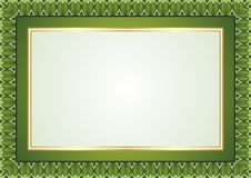 Frame - Border with Green Color Style Design Royalty Free Stock Photography