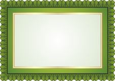 Frame - Border with Green Color Style Design Royalty Free Stock Photo