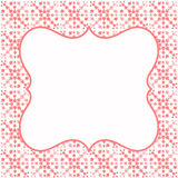 Frame border leaves invitation card Royalty Free Stock Photography
