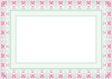 Frame / Border with Lovely design. Frame / Borde with Lovely design and cute color, simple and elegant with blank area Royalty Free Stock Photos