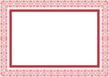 Frame / Border with Lovely design. Frame / Borde with Lovely design and cute color, simple and elegant with blank area Royalty Free Stock Photo