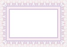 Frame / Border with Lovely design. Frame / Borde with Lovely design and cute color, simple and elegant with blank area Stock Photo