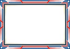 Frame or border, with Patriotic american flag style and color design. White, red and blue. suitable for certificate border or frame, wedding, menu, cover, and vector illustration