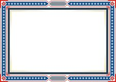 Frame or border, with Patriotic american flag style and color design royalty free illustration