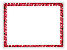 Frame and border of ribbon with the Albania flag. 3d illustration Royalty Free Stock Image