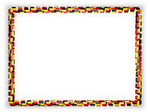 Frame and border of ribbon with the Belgium flag. 3d illustration Royalty Free Stock Image