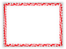 Frame and border of ribbon with the Canada flag. 3d illustration.  Royalty Free Stock Images