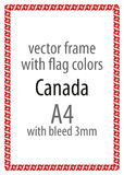 Frame and border of ribbon with the colors of the Canada flag Stock Photo