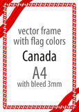 Frame and border of ribbon with the colors of the Canada flag Royalty Free Stock Photography