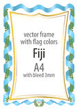 Frame and border of ribbon with the colors of the Fiji flag Stock Photography