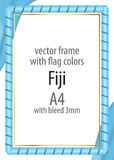 Frame and border of ribbon with the colors of the Fiji flag Stock Images