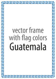 Frame and border of ribbon with the colors of the Guatemala flag Royalty Free Stock Images