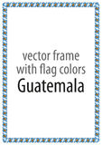 Frame and border of ribbon with the colors of the Guatemala flag Royalty Free Stock Photography
