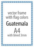 Frame and border of ribbon with the colors of the Guatemala flag Royalty Free Stock Image