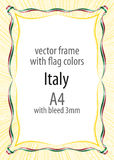 Frame and border of ribbon with the colors of the Italy flag Royalty Free Stock Photos