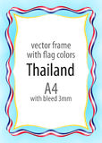Frame and border of ribbon with the colors of the Thailand flag Royalty Free Stock Images