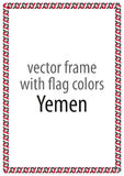 Frame and border of ribbon with the colors of the Yemen flag Stock Photography
