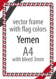 Frame and border of ribbon with the colors of the Yemen flag Royalty Free Stock Photography