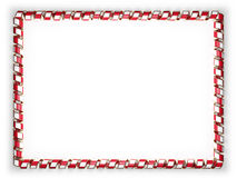 Frame and border of ribbon with the Malta flag, edging from the golden rope. 3d illustration Stock Photo