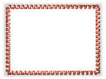 Frame and border of ribbon with the Oman flag. 3d illustration Stock Images