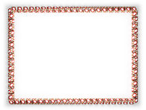 Frame and border of ribbon with the state Florida flag, USA, edging from the golden rope. 3d illustration Stock Photos