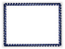 Frame and border of ribbon with the state Maine flag, USA. 3d illustration Royalty Free Stock Image