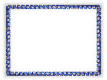 Frame and border of ribbon with the state Minnesota flag, USA, edging from the golden rope. 3d illustration Stock Image