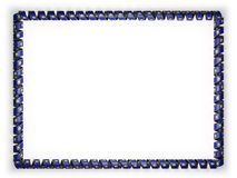 Frame and border of ribbon with the state Montana flag, USA, edging from the golden rope. 3d illustration Stock Photo