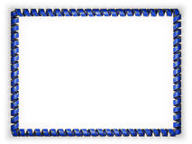 Frame and border of ribbon with the state Nevada flag, USA, edging from the golden rope. 3d illustration Stock Photos